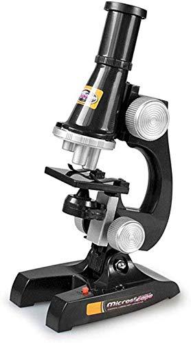 Jszzz Niños Principiante Microscopio, Ciencia 100x 200x 450x de Aumento de niños Microscopio