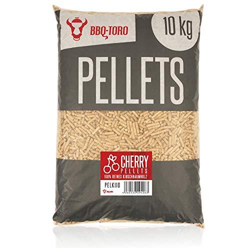 BBQ-Toro Cherry Pellets aus 100% Kirschbaumholz (10 kg) | Kirschpellets für Grill, Smoker, Pellet-Pizzaofen und Heizungsanlagen | Grillpellets