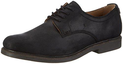 Sebago Zapatos de Cordones Derby para Hombre, Negro