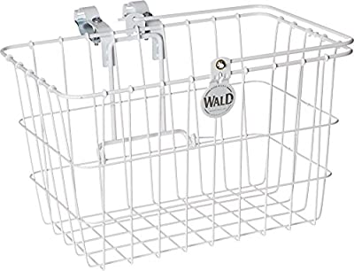 "Wald Standard Lift Off Basket for Multi Speed Bicycles, 14.5"" x 9.5"" x 9"", # 3133 White"