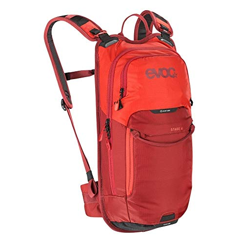 evoc Stage 6l + 2l Bladder Technischer Tagesrucksack, Orange/Chili Red, one Size