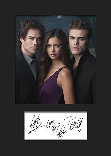 The Vampire Diaries #1 | Signierter Fotodruck | A5 Größe passend für 6x8 Zoll Rahmen | Maschinenschnitt | Fotoanzeige | Geschenk Sammlerstück
