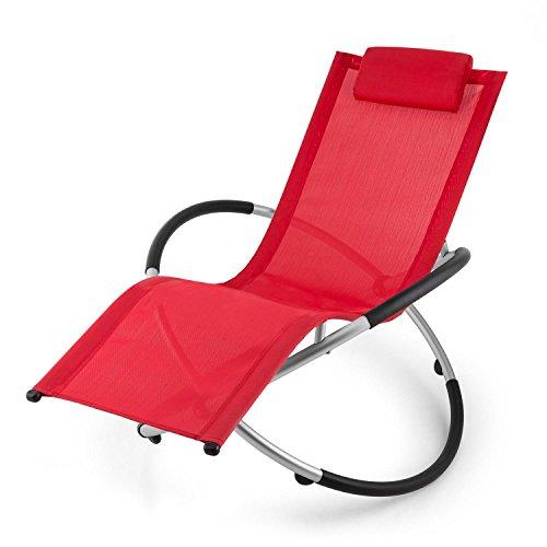 blumfeldt Chilly Billy ergonomische Relaxliege Liegestuhl Gartenstuhl Klappstuhl (Liege, 180 kg maximale Belastung, atmungsaktiv, witterungsbeständig, pflegeleicht, faltbar) rot - 9