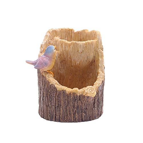 SHUNFAYOUXIANGS Vasi da Fiori Creative Stump Plant Combinato Vaso di Fiori Vaso di Fiori Fioriere da Giardino all'aperto. (Color : D)