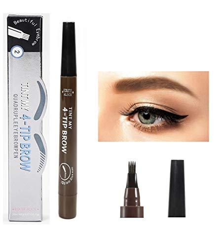 Lot de 2, Crayon à Sourcils, Crayon Yeux Waterproof, Crayon Sourcil, Maquillage Sourcil Stylo Sourcil - 2# Dark Brown (Marron Foncé)