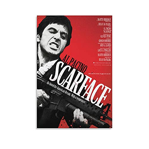 TONGDIAN Scarface Al Pacino Crime Movie Poster Obras de arte Cuadro Cuadro Cuadro Cuadro Cuadro Cuadro Cuadro Decoración Regalo Decoración Hogar Carteles Decorativos 60x90cm
