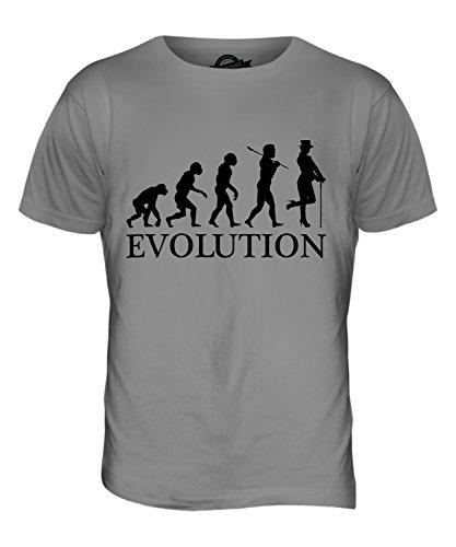 Candymix Kabarett Tänzer Evolution des Menschen Herren T Shirt, Größe Small, Farbe Hellgrau