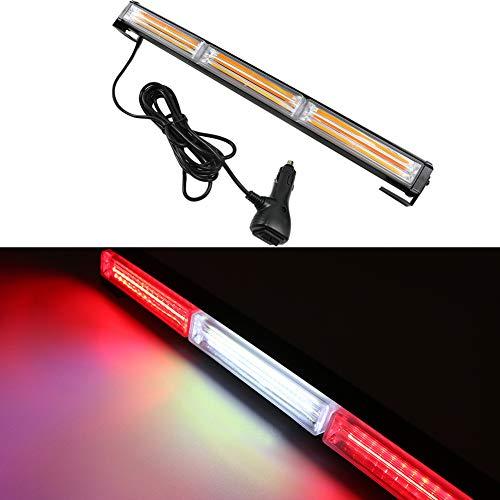 54W COB 12/24 V Auto Blitzleuchte Led Strobe Hazard Achtung Blinklicht LKW (Weiß Rot)