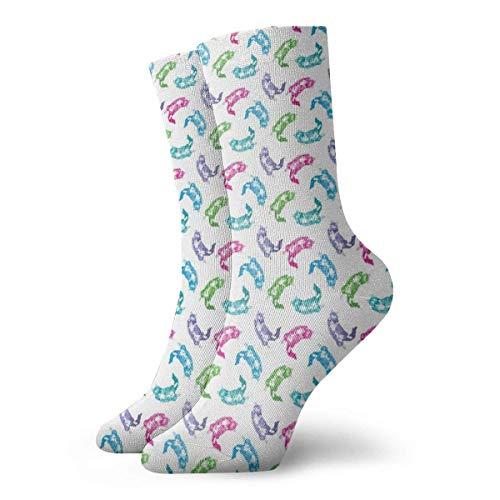 N / A Epeating Pattern Design Unisex Calcetines cómodos para el equipo Calcetines deportivos atléticos 30 cm / 11.8 pulgadas