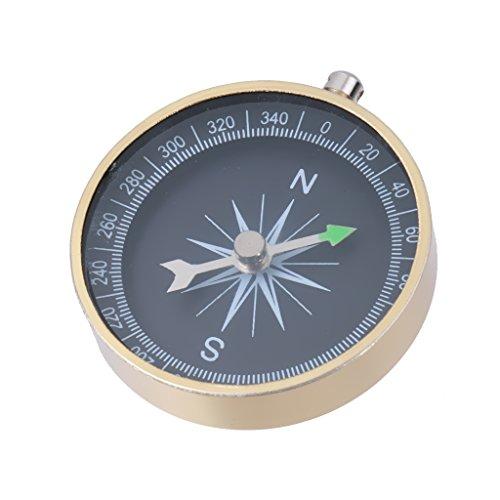 MagiDeal 2pcs Porte Clé avec Compass en Alliage d'aluminium Boussole Métallique Trousseau pour Camping Randonnée