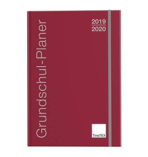 TimeTEX Grundschul-Planer A4-Plus bordeaux - Schuljahr 2019-2020 - Terminplaner für die Grundschule - Lehrerkalender - Schulplaner - 10716 - Neu – mit breitem Verschlußgummi