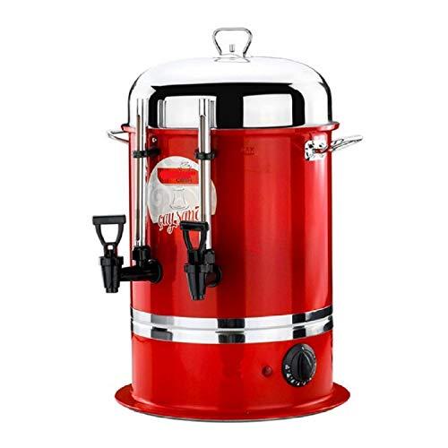 Uzman-Versand 11 Liter Teemaschine ROT Samowar Teekanne Teeautomat Teebereiter Teespender Semaver Tee Cay Automat Teekessel Spender Teeglas Küche-Teemaschinen Elektrisch (11 Liter, Rot)