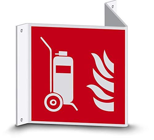 Brandschutzzeichen - Fahrbarer Feuerlöscher (F009) - Nasenschild - 20 cm