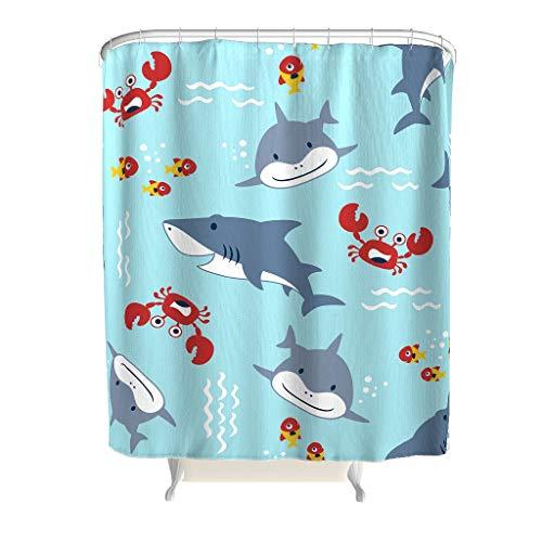 Zhenxinganghu Onderwaterwereld thema bont badgordijn badkamerdecoratie douchegordijn met haken douchegordijn voor badkamer badaccessoires voor thuis