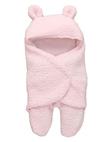 MY NEWBORN 3 in 1 Baby Blanket-Safety Bag-Sleeping Bag Towel 0-6 Months for boy, Girl- Pink- Pink