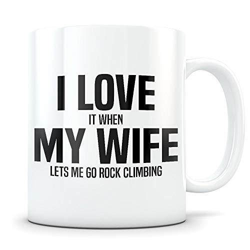 Climbing Gift climbing mug rock climbing gift rock climbing mug climber gift for men climber mug climb gift climb mug I love my wife