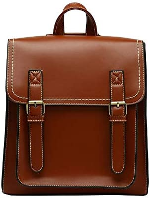 m-bl Mini Backpack Backpack Bag Women's Backpack Fashion Bag for Girls High Lineament Leisure Shoulder Bag (Color : Brown, Size : A)