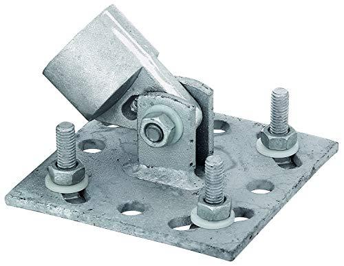 GAH-Alberts 658557 Strebenplatte | feuerverzinkt | Größe 100 x 100 mm | für Pfosten-Ø 34 mm