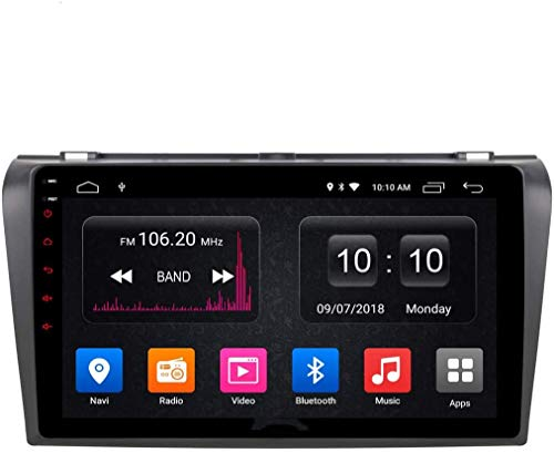 WXHHH Car Stereo Car DVD CD Player SAT Navi GPS for Mazda 3 2007-2012 Support GPS Navigation Audio Video Bluetooth USB SD SWC FM AM,4g+WiFi:2+32