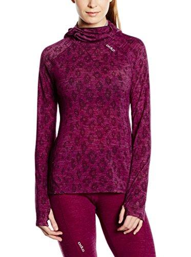Odlo t-Shirt à Manches Longues avec Capuche et Masque Revolutio Planai XL Violet - Rouge/Marron
