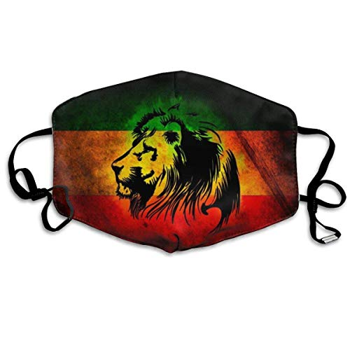 Multifunktionale Gesichtsschutzhülle,Reggae Rasta Flag Lion Unisex Waschbare Wiederverwendbare Gesichtsdekorationen Für Den Persönlichen Schutz