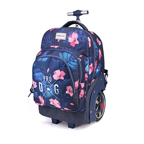 PRODG Tropic Blue - Mochila con Carro, 53 cm, Multicolor