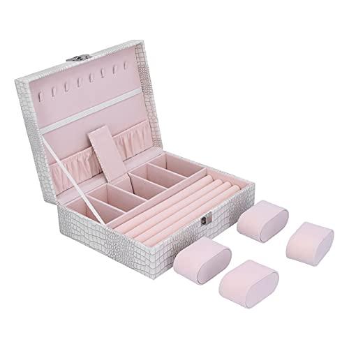 Caja de Almacenamiento, Suministros de Adornos Contenedor de joyería de Uso Multifuncional bellamente diseñado para Bodas para Familiares para Amigos para el día de San Valentín