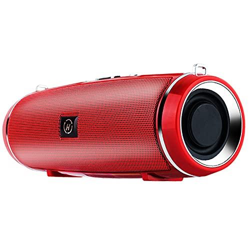 Altavoces Bluetooth 4.0, Altavoz Portatil, 3D Estereo, al Aire Libre, hogar, Fiesta, Viajes con HD Audio y Manos Libres, Radio FM Antena Construido, USB, Llamadas Manos Libres y TF,Red