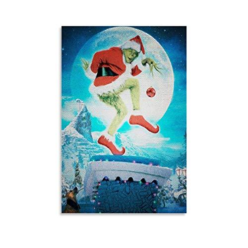 Descargar Imagenes Del Grinch Poster dekorative Malerei Leinwand Wandkunst Wohnzimmer Poster Schlafzimmer Malerei 20x30inch(50x75cm)
