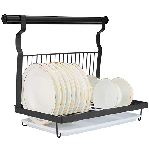 Eastore Life Wall-mounted Dish Rack with Hanging...