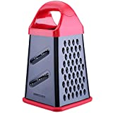 GUANCI Professional Box Grater, 4-Sided Nonstick Coating Stainless Steel Large 10-inch Grater for Parmesan Cheese, Ginger, Vegetables,fruits, chocolate, nuts and more