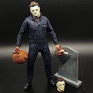 Lemongrass. Halloween Ultimate Michael Myers Action Figures Joints Moveable Model Toys 18Cm PVC Set Gift Must Have Items Funny Gifts The Favourite Toys Superhero Party Decorations One Collection