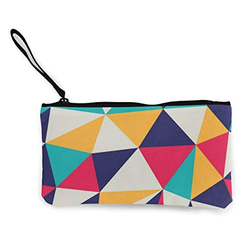 Wrution Geldbörse aus Leinen, dreieckig, mit Reißverschluss, kleine Geldbörse, weiblich, tragbar, große Kapazität, personalisierbar