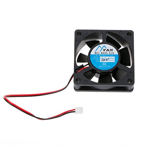 Yyooo 60 mm × 60 mm × 20 mm DC 12 V 2 pines enfriador Axial PC CPU Case Ventilador de refrigeración 6020