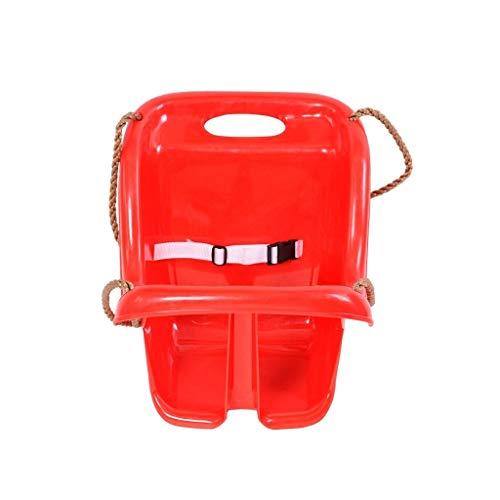 Ffshop Columpio Plegable Asiento de Asiento de plástico para niños Silla de plástico Segura y Duradera Columpio para Patio de Juegos al Aire Libre (Rojo/Azul) Oscilación Ajustable (Color : Red-A)