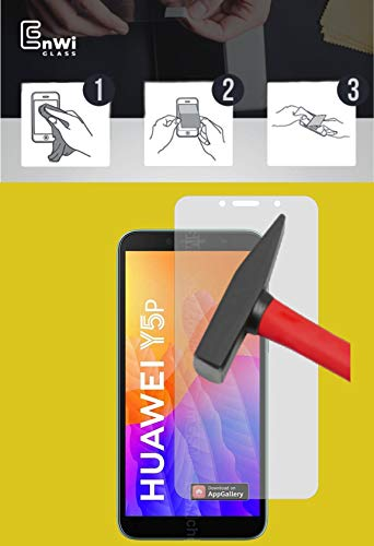 EnWi | 2X Panzer-Glas-Folie 9H Bildschirm-Schutz-Folie für Huawei Y5P