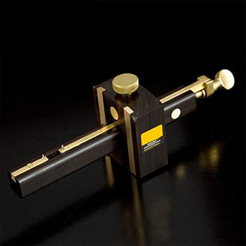 Ocamo Mortise Gauge, Multifunction Ebony Screw Type Marking Gauge Woodworking Measuring Tool Woodworking Marker