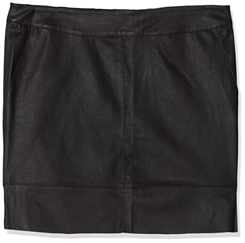 ONLY NOS Damen onlBASE Faux Leather Skirt OTW NOOS Rock, Schwarz (Black), 38