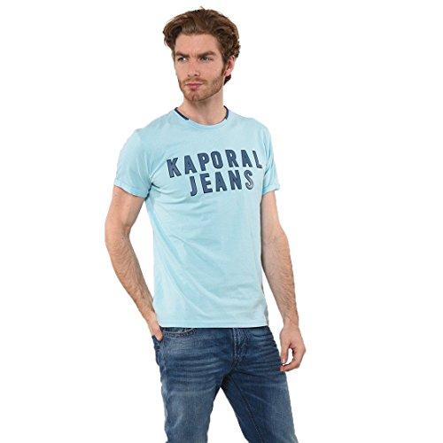 Kaporal - T-shirt - Imprimé - Col rond - Manches courtes - Homme - Bleu (Sky Blue) - X-Large (Taille fabricant : XL)