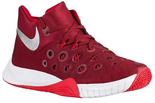 NIKE Men's Zoom Hyperquickness 2015 TB Basketball Shoes (11.5 D(M) US, Team Red/Metallic Silver/University Red)