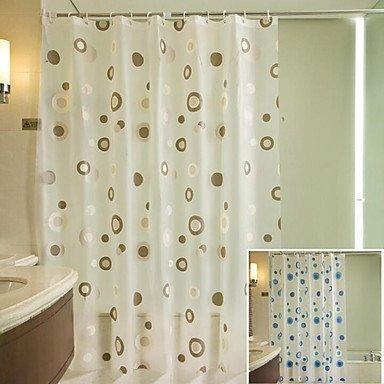 FEN @ Mode épais Rideaux Peva résistant à l'eau coloré Fleur de douche, W71 \