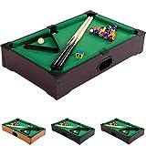 Mini Pool Billardtisch Nano inkl. Zubehör (2 Queues, Kugeln, Dreieck, Kreide), 3 Dekore, Maße:...