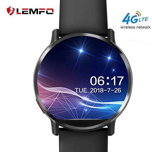 Lemfo Lemx Bluetooth Smart Watch, Android 7.1dispositivi indossabili fitness tracker Nano Sim sbloccato 4G Phone Mate con 8MP fotocamera GPS WiFi 1GB + 16GB Smartwatch per Android iOS
