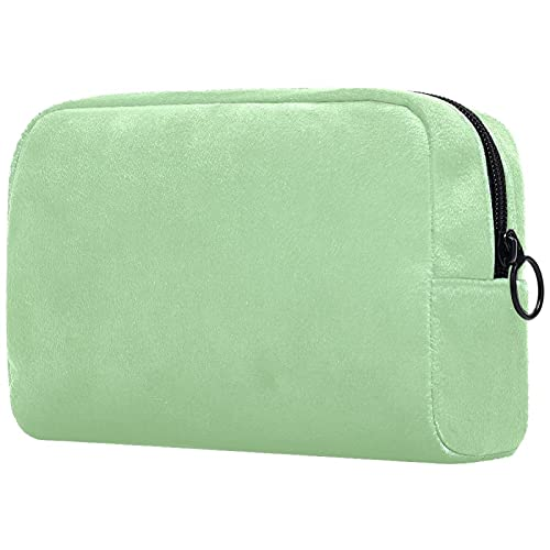 Couleur Vert Menthe Pure, Pochette de Maquillage de Voyage de Sac Cosmétique de Femmes pour l'organisateur Portatif de Sac de Toilette de Sac à Main