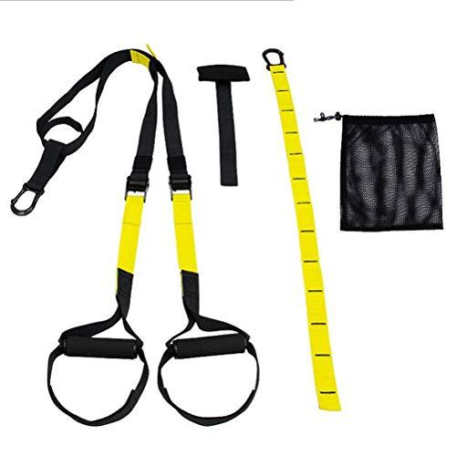 Oyria Sling Trainer Set con Anclaje para Puerta Ajustable hogar – Entrenador de suspensión de Fitness Adecuado para Entrenamiento en Interiores y Exteriores, A, Small