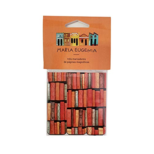 Marcador De Página - Maria Eugênia - Livros, Teca, Gm0016, Colorido, Pacote De 3