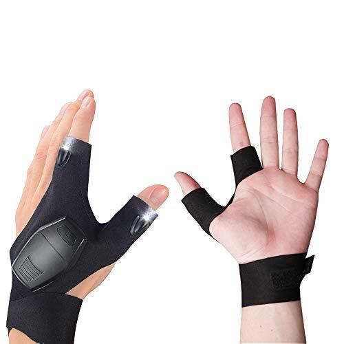 lkhf led flashlight glove finger