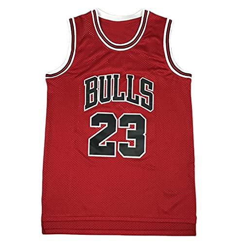 KSDF Jordan 23# Camiseta de Baloncesto, Camiseta de Secado rápido de Malla de Malla para Unisex. (S-XXL) Red-M