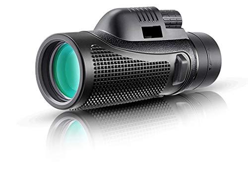 Handheld Telescope, 40x60 HD BAK4 Prism All Optical Monocular, Focus Wheel, Outdoor Adult, Bird Watching, Viewing, Concert, Astronomy, 10X (Black)