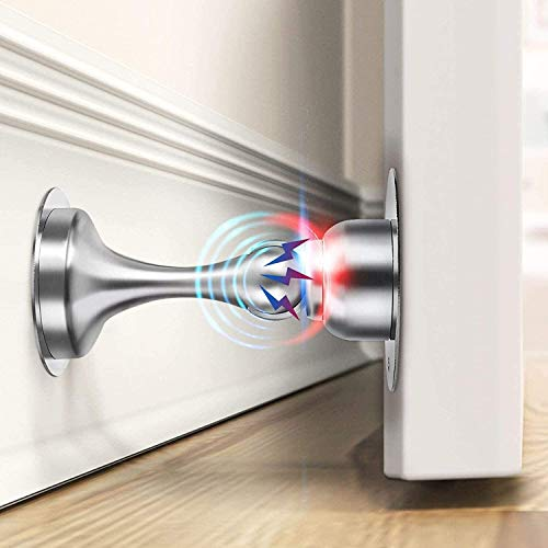 Door Stopper, 2 Pack Magnetic Door Stops Catch, Door Magnetic Catch Stainless Steel, No Need to Drill - 3M Double-Sided Adhesive Tape, Keep Your Door...